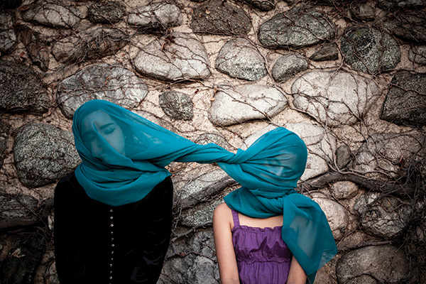 """Sisters, 2014; Archival color print; 23"""" x  31"""""""