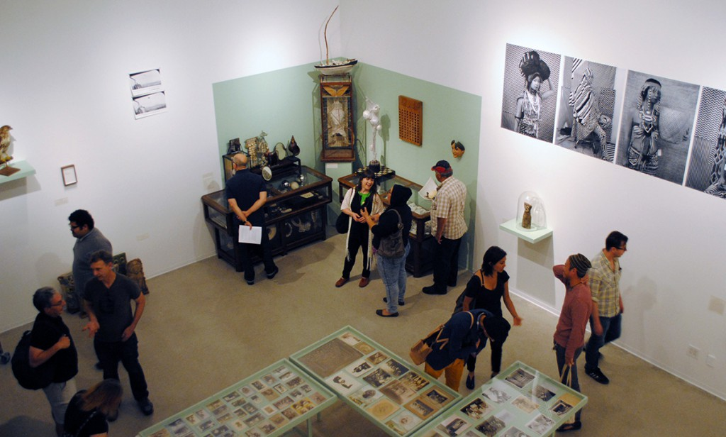 View of Nichols Gallery from upper floor