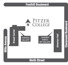 Map, Nichols Gallery and Lenzner Gallery locations