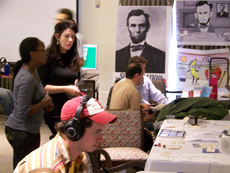 Students exhibiting their Senior Projects