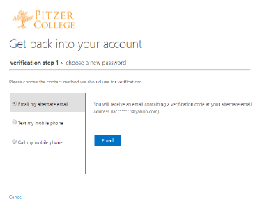 Self Service Password Portal - Office 365 (Staff, Faculty and