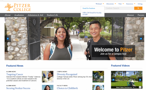 pitzer home page