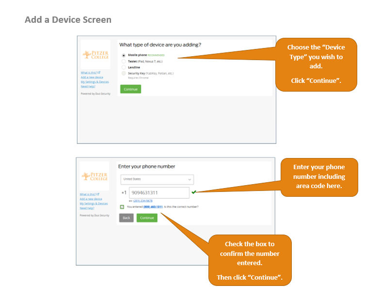 Duo device type screen
