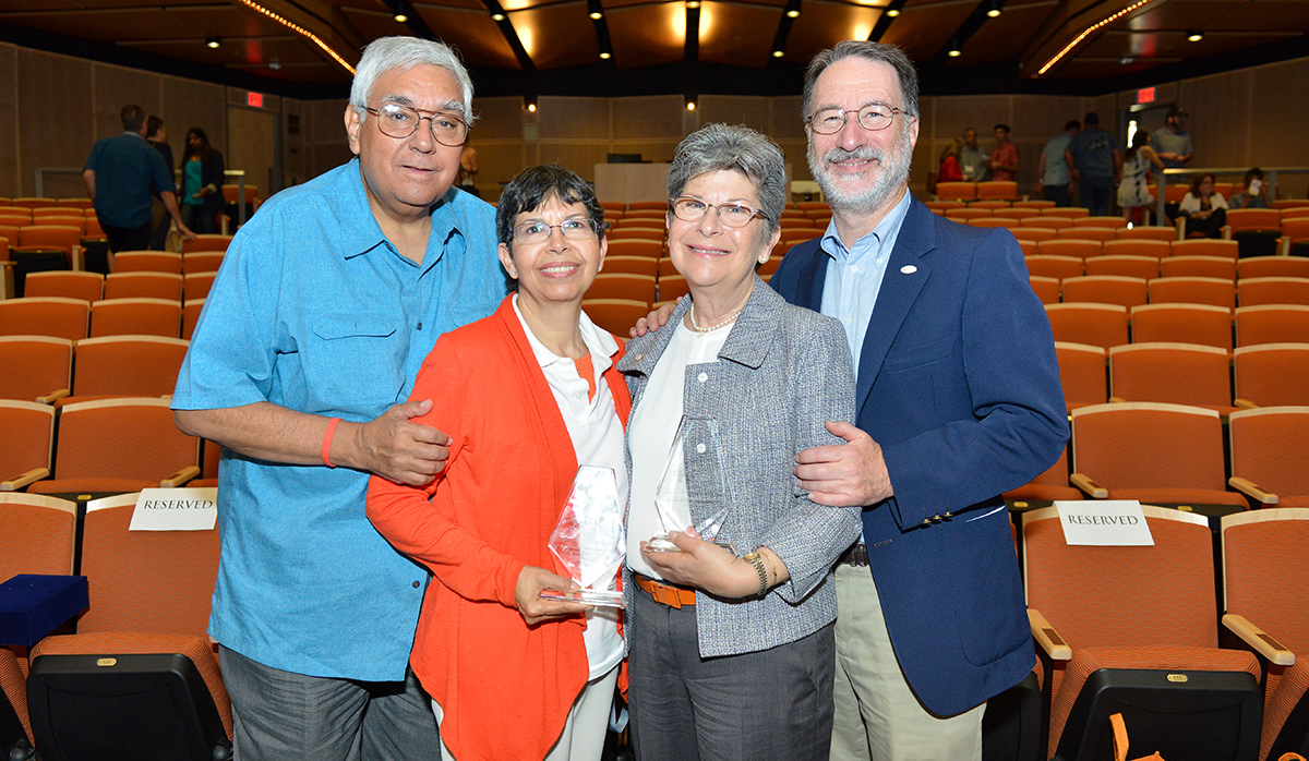 2016 Parent Volunteer Award Honorees; The Ayalas and the Bartnofs