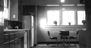 Archival photo of the kitchen