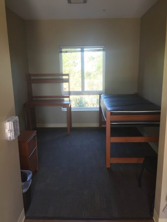 Typical Pitzer-Atherton-Sanborn Residence Hall single room