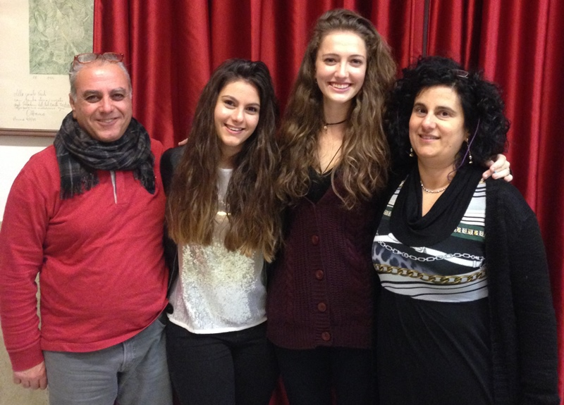 Amelia Abramson '16 and host family