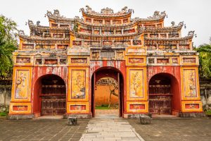 The gates of the Forbidden City at Hue, Vietnam