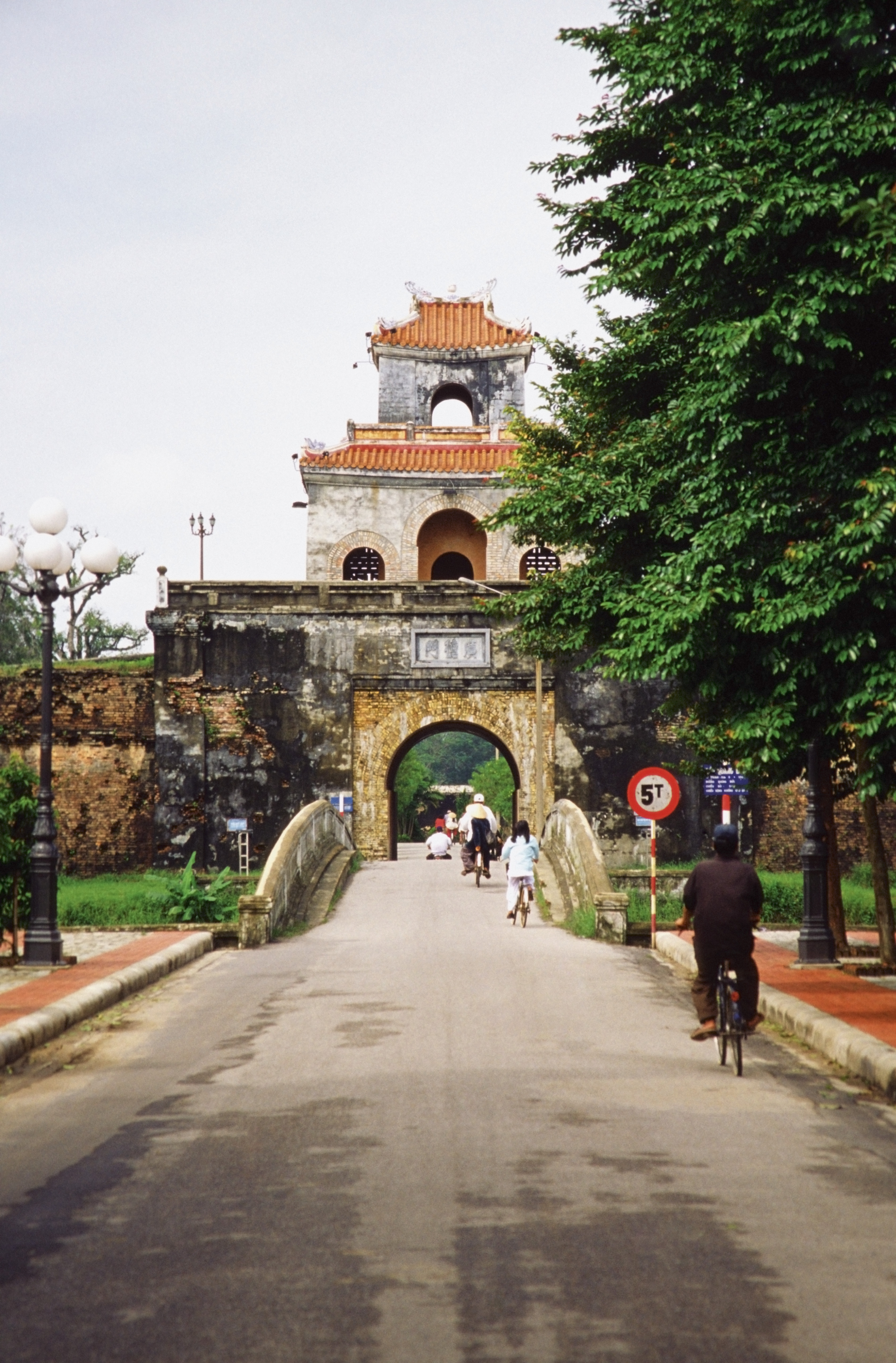 Path leading to the Imperial Citadel, Hue, Vietnam