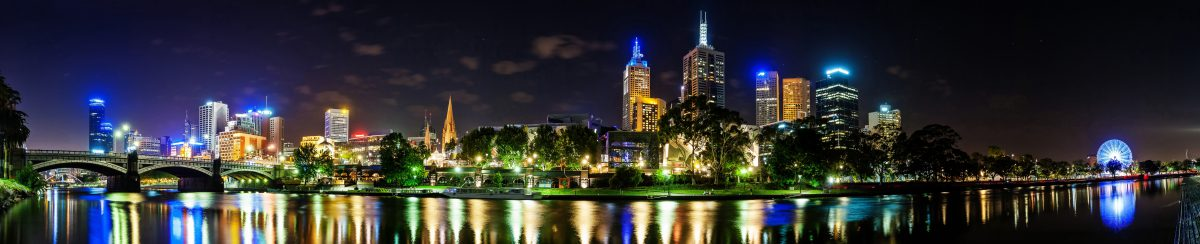 Downtown Melbourne across the Yarra River