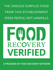 Sustainability - Food Recovery Verified