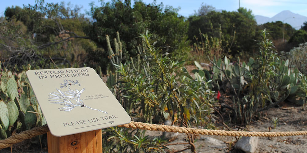 Sign in the Pitzer Outback Preserve
