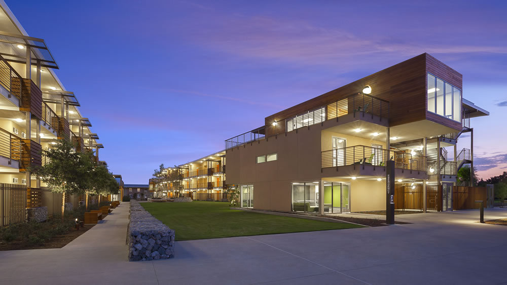 More than 40 sustainable features have been incorporated into the design of the Phase II Residence Halls.