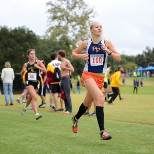 Camille Matonis '15 books into the record books in the 6K