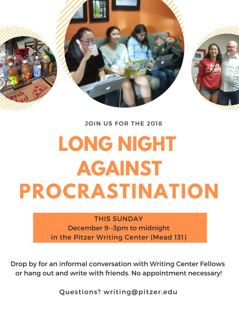 Writing Workshops - Spring 2019 - The Writing Center